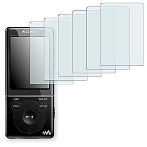 6x Golebo Semi-Matt protectores de pantalla para Sony NWZ-E574 - (efecto antirreflectante, montaje muy fácil, removible sin residuos)