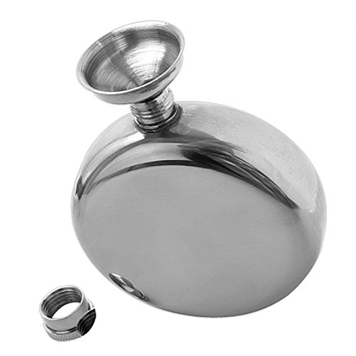 Generic 5oz Mirror Polished Stainless Portable Liquor Wine Mini Hip Flasks with Funnel