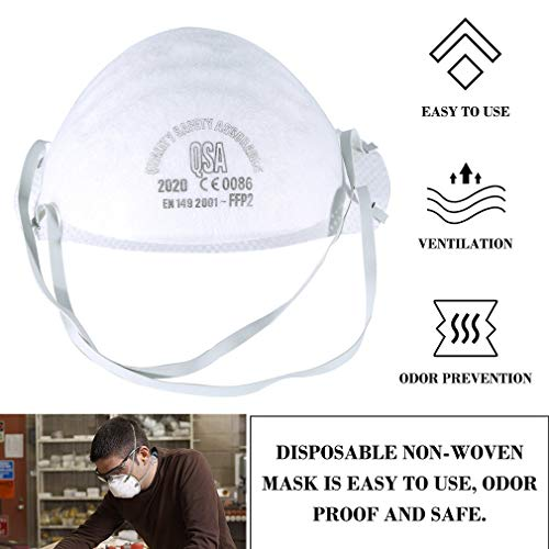 Anti Pollution Mask FFP2, Head-Covered Safety Mask Anti-Fog Mask, Round Face Mask, 1 Pcs