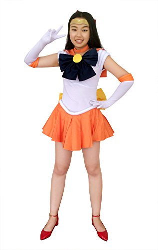 DAZCOS Adult US Size Sailor Venus Minako Aino Cosplay Costume (Women S)