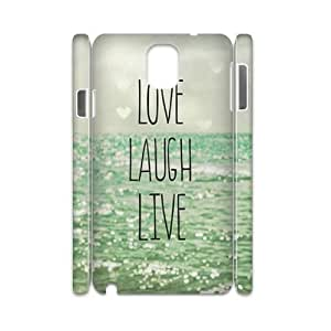 Samsung galaxy Note 3 N9000 3D Custom Phone Back Case with live laugh love Image