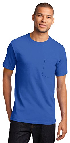 Port & Company Mens Tall Essential T-Shirt with Pocket, Royal, XX-Large Tall (Modern Essential T-shirt)