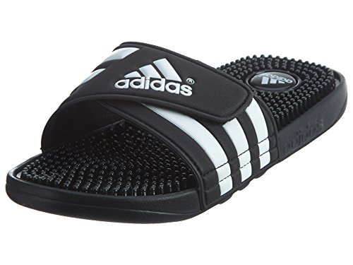 Adidas Adissage Big Kids Style: 078285-BLACK/RUNWHI/BLACKNOIR Size: 3 by adidas