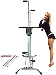 X Factor Adjustable Vertical Climber Stair Stepper Home Gym Cardio Exercise Stepper Machine Total Body Workout