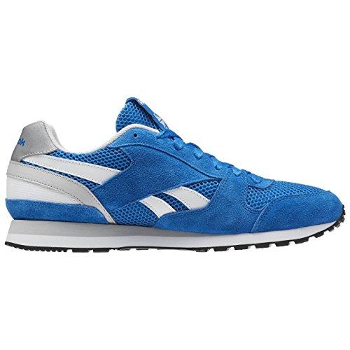 Reebok Gl 3000 Mesh, Zapatillas de Running Para Hombre Azul / Blanco / Gris / Negro (Blue Sport / Steel / White / Black)