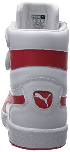 PUMA Herren Sky II Hallo FG Fashion Sneakers Weiß / Rot mit hohem Risiko