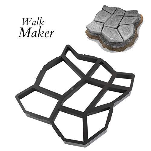 "CJGQ 17""x17""x1.6"" Walk Maker Reusable Concrete Path Maker Molds Stepping Stone Paver Yard Patio Lawn Garden DIY Walkway Pavement Paving Moulds (Irregular)"