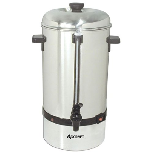 Adcraft Countertop CP-100 100 Cup Coffee Percolator, Stainless Steel, 120v