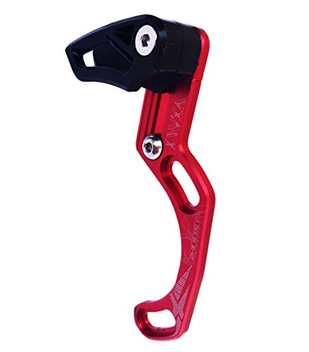DEERU MTB Chain Guide Direct Mount Chainring Guard, 30-40T, Perfect for Most Bicycle Road Bike Mountain Bike BMX Fixie (Aluminum Alloy) (ISCG05-Red) (Mountain Bike Chainrings)