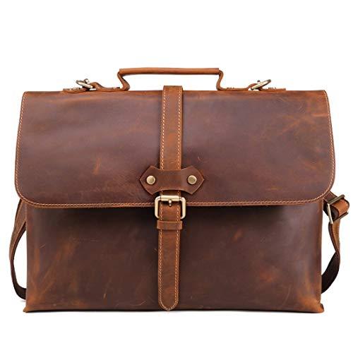 Ovesuxle Vintage Bandoulière color Pour Cuir Homme Brown Sac À Brown En F1qgP1aH