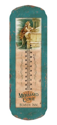 Ohio Wholesale Vintage Mermaid Thermometer, from our Water Collection by Ohio Wholesale