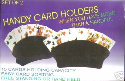 Handy Card Holders, Set of 2, 15 card holding capacity, Black (Chess Playing Cards)