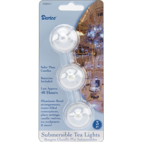 Set of THREE (3) LED Submersible Tea Lights by Darice [並行輸入品] B01AJ2RM68 22394