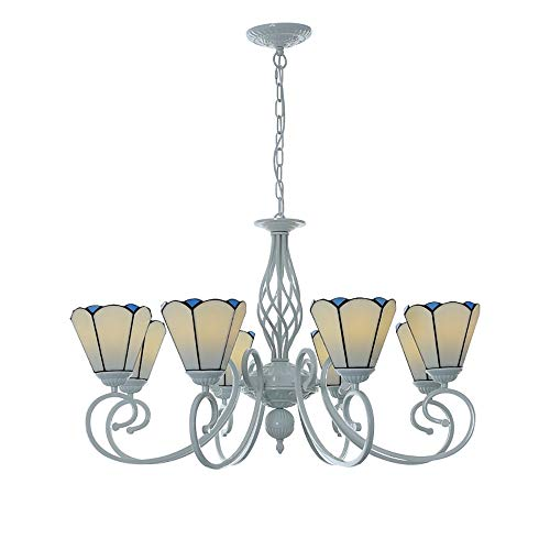 Chitty Warm and Romantic Style Mediterranean Chandelier Creative Wrought Iron Craft Aluminum Alloy E27 lamp Holder Chandelier Home Decoration Lighting Furniture Creative