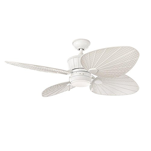 Home Decorators Collection YG618-WH Pompeo 52 in. LED Outdoor White Ceiling Fan