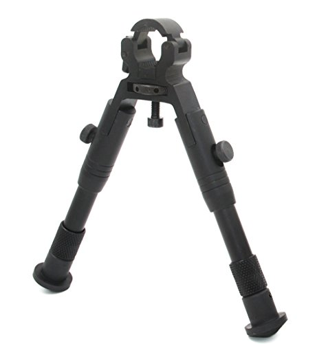 JINSE Bipod Dragon Claw Clamp-on Folding Adjustable 6.2-6.7 Inches Bipod Wheel Size 11mm to 19mm