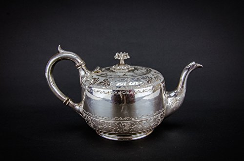 Luxurious Antique TEAPOT Grapes James Deakin Sons Victorian Serving Silver Plated Metal Late 19th Century English LS (Vintage Silver Teapot)