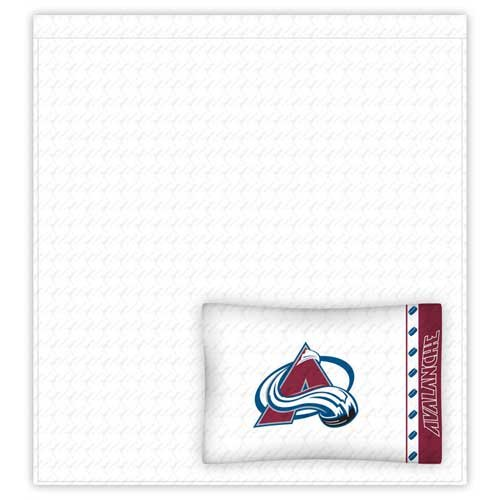Sports Coverage NHL Colorado Avalanche Micro Fiber Sheet Set (Twin) - Sheets Twin Sports Coverage