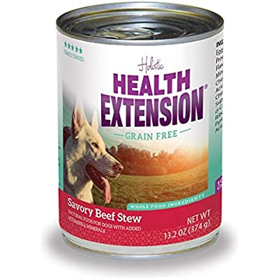 Health Extension Beef Stew Grain Free Wet Dog Food (1 Pack), 12/13.2 Oz/One Size