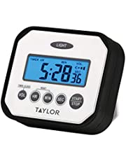Taylor Precision Products n' Drop Digital Timer with Volume Settings, One Size, White