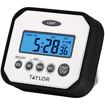 Taylor Precision Products Pro Splash 'n' Drop Digital Timer with Volume Settings
