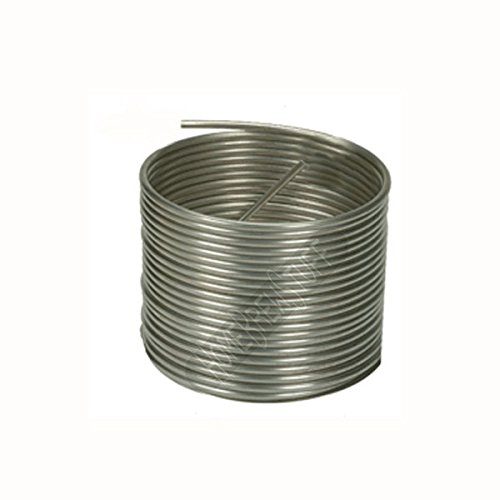 HomeBrewStuff Stainless Steel Tubing Coil - 3/8'' x 50' - DIY Chiller, HERMS, or Moonshine Snake by Home Brew Stuff