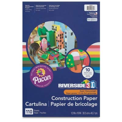 Riverside(R) Groundwood Construction Paper, 100% Recycled, 18in. x 24in, Gray, Pack of 50