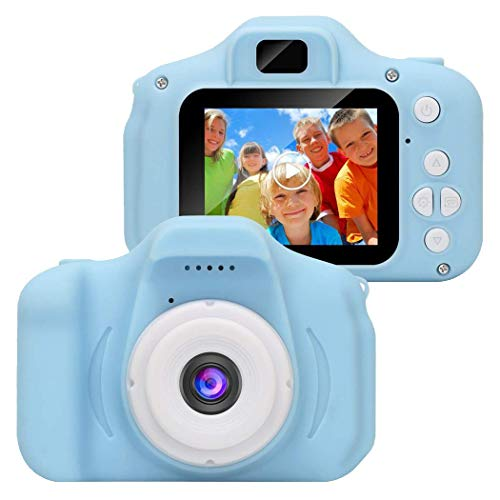 Kids Mini Digital Camera, Rechargeable Children Shockproof Digital Video Camcorders 2 Inch ScreennChristmas Birthday Party Gift for Year Old Boys Girls