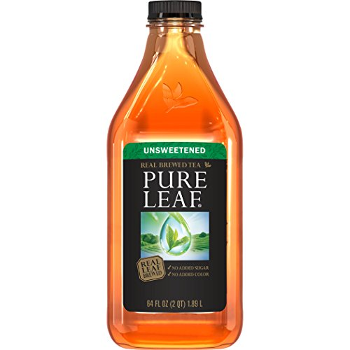 Pure leaf Iced Tea, Unsweetened, Real Brewed Tea (64 oz Bottle) by Pure Leaf