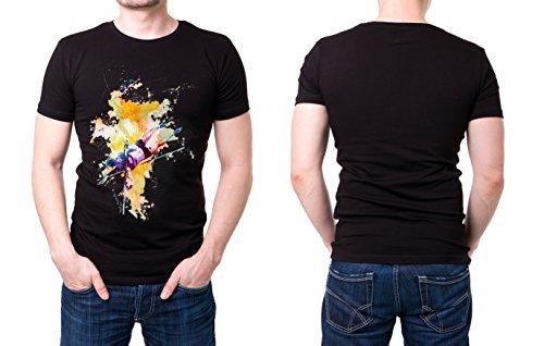 Stabhochsprung_I schwarzes modernes Herren T-Shirt mit stylischen Aufdruck
