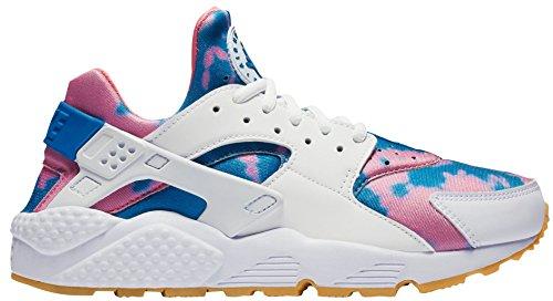 Nike Wmns Lucht Huarache Run Afdrukken Vrouwen Aq0551-100 Wit / Blauwe Nevel-blauwe Nevel