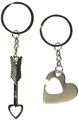 Generic 1 Pair Onlyou Key to My Heart Cute Couple Love Keychain Ring (4211)