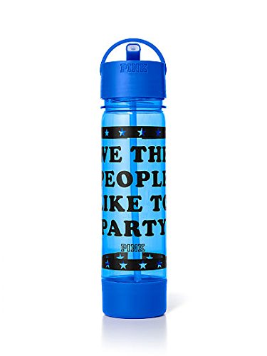 """Victoria/'s Secret PINK /""""We The People Like To Party/"""" Campus Water Bottle 24oz"""