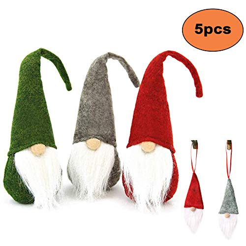 Easter Gnome Plush, 5PCS Handmade Birthday Gnome Swedish Tomte Gnome Elf Gnome Santa Home Ornaments Decoration Table Décor