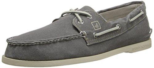 Sperry Top-Sider Men's Authentic Origiinal SW Canvas Boat Shoe, Grey, 11.5 M US