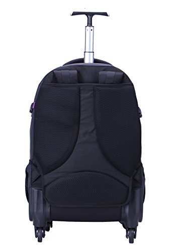 AOKING 20/22 Inch Water Resistant Travel School Business Rolling Wheeled Backpack with Laptop Compartment (Purple, 20 Inch) by JOLLYCHIC (Image #4)
