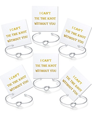 Chicnow Bridesmaid Gifts Love Knot Bracelet Set of 6]()