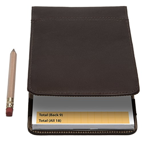 Golf Scorecard Holder -Gino- by Muiska | Performance Leather Yardage Book Cover Available to Personalize in (Scorecard Wallet)