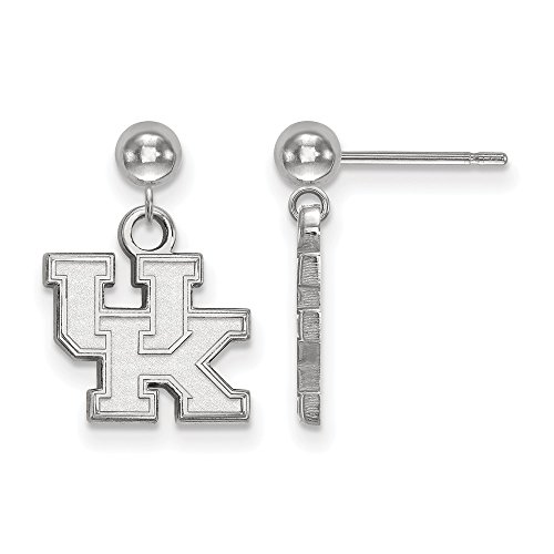 925 Sterling Silver Officially Licensed University College of Kentucky Earrings Dangle Ball by Mia's Collection