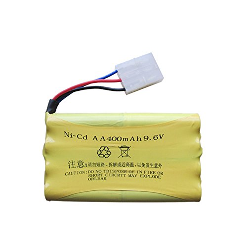 Qsmily Rechargeable 9.6V 400mAh Ni-Cd AA Battery Packs KET 3P Plug for Huanqi HQ 514 520 618 627 RC Car Remote Control Vehicle 3p Plug