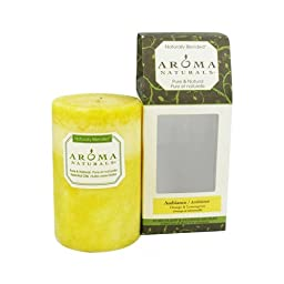 Aroma Naturals Candle Ambiance Naturally Blended Pillar 2.5 x 4