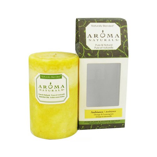 Aroma Naturals Candle Ambiance Naturally Blended Pillar 2.5 x (Aroma Naturals Pillar Candle)
