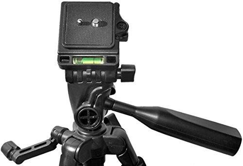 [해외]60 인치 경량 알루미늄 카메라 삼각대 번들 (5 피스 세트) - 니콘, 휴대용 케이스 및 마이크로 화이버 렌즈 클리닝을위한 원격 셔터 릴리즈 포함/60 Inch Lightweight Aluminum Camera Tripod Bundle (5 Piece Set) ? Includes Remote Shutter Relea...