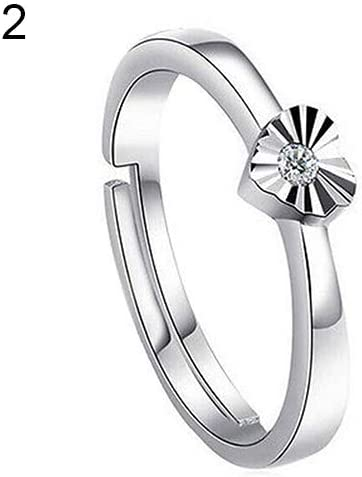 Opening Rings for Women Silver Plated Rings Costume Jewelry Adjustable Ring