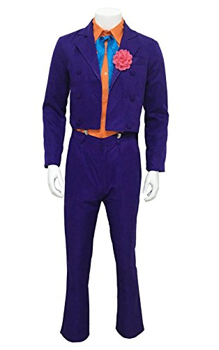 NSOKing Halloween Costume Stripe Purple Suit Joker Full Sets (Large, (The Joker Suit)
