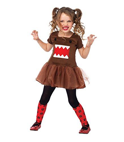[Leg Avenue Domo Tutu Dress & Print Leg Warmers (2 Piece), Pink, Small] (Pink Domo Costume)