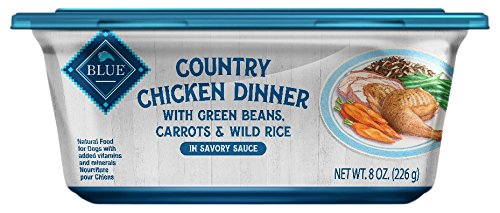 Blue Buffalo Country Chicken Dinner Natural Adult Wet Dog Food Tub, Chicken with Green Beans, Carrots & Wild Rice 8-oz (Pack of 8)