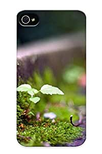 Protective Tpu Case With Fashion Design For Iphone 4/4s (small Sprout Breaking Through )