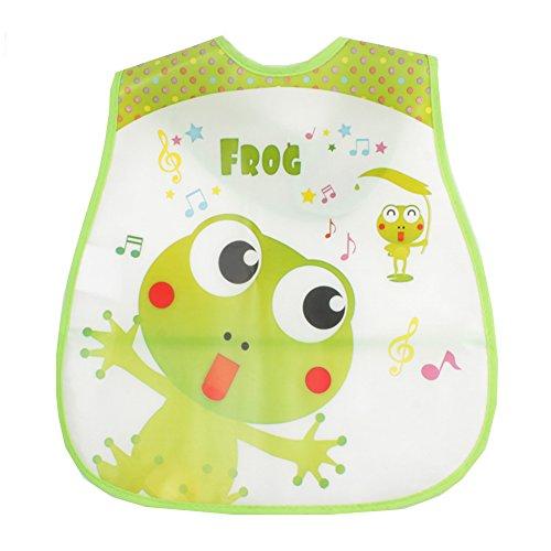 Bibs Cartoon Waterproof Fiber Cloth Infant Feeding Care (Frog) (Care Of Frogs)