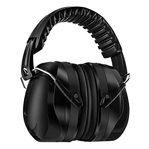 Homitt Sound Ear Muffs Hearing Protection, Noise Reduction Safety Earmuffs, Ear Defenders SNR 34dB with Noise Cancelling Technology for Shooting, Hunting, Working or Construction, with A Carry Bag